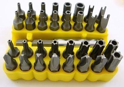 33 piezas Juego de puntas para destornillador de seguridad ...