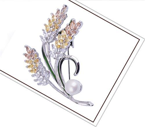 CHASIROMA Brooch Pins Freshwater Pearl Cubic Zirconia Brooch Fashion Jewelry