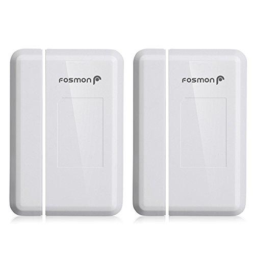 Fosmon 2 Pack WaveLink 51018HOM Add-On Door Contact Sensor Unit (No Receiver) - White