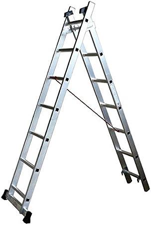 Escalux – Escalera aluminio Semi-Pro transformable 2 x 7 alto trabajo 4,34 m – Escalux TR2: Amazon.es: Bricolaje y herramientas