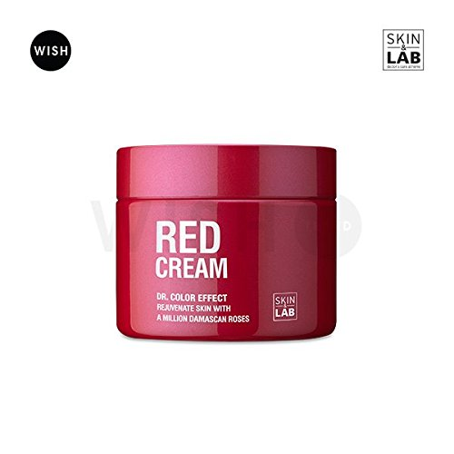 SKIN&LAB Red Cream 50ml, All In One Best Anti Aging Night Cream - Advanced Dermatology Stem Cell Infused with A Million Damask Roses + Hyaluronic Acid. Natural Skin Brightening and Skin Tightening Face Cream LAB&COMPANY
