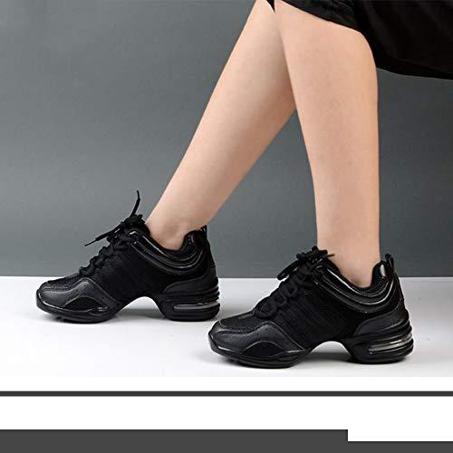 Synthétique Cheville De Jazz Modernes Dance Pour Chaussures Résille Femme Noir Sneakers En Sport Confort Respirant Lacer Danse Yudesun wqR6zSSxA