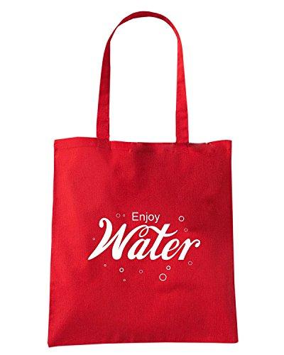 T-Shirtshock - Bolsa para la compra ENJOY0097 Enjoy WATER Rojo