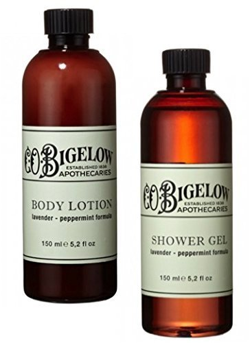 C.O. Bigelow Lavender and Peppermint Lotion and Shower Gel Bundle by C.O. (Bigelow Peppermint Body Wash)