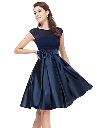 Ever Pretty Womens Cap Sleeve Party Dress 6 US Navy Blue