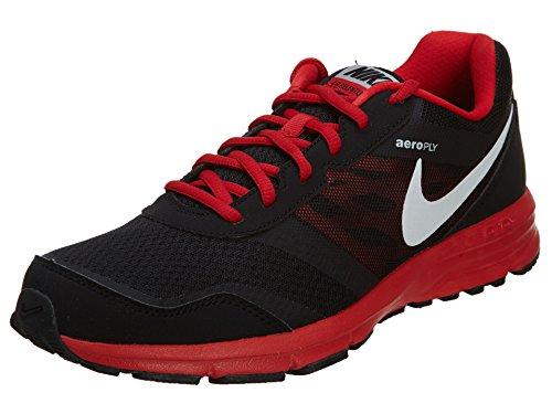 Nike Men's Air Relentless 4 MSL, BLACK/WHITE-UNIVERSITY RED-METALLIC SILVER, 10 M US