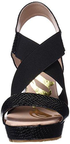 Negro Elásticos Cuplé Plataforma Alta black Serpiente Sandalia Para Mujer qIxPvw