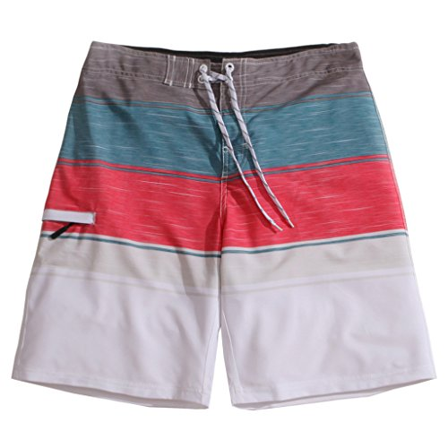 Men%27s+Quick+Dry+Stripes+II+4-Way+Stretch+Graphic+Board+Shorts+Swim+Trunks+35%22