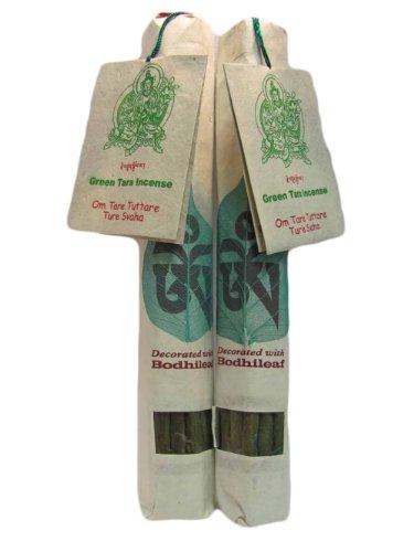 - Traditional Tibetan Ayurveda Chakra Aroma Therapy GREEN TARA Healing Incense (Om Tare Tuttare Ture Svaha) Pack of 2