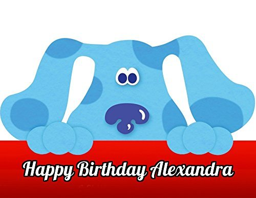 Price comparison product image Blues Clues Edible Image Photo Cake Topper Sheet Personalized Custom Customized Birthday Party - 1 / 4 Sheet - 78714
