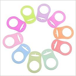 QHGstore 10pz botón de silicona anillo mam Maniquí Chupete ...