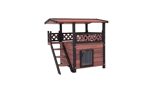 Casa de gato para exteriores, de madera: Amazon.es: Productos para mascotas