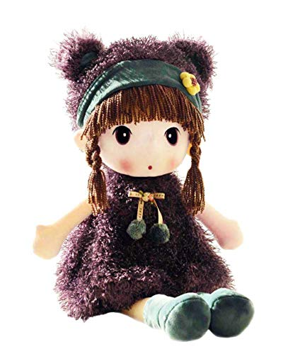 HWD Kawaii 17 inch Stuffed Plush Girl Toy Doll . Good Gift for Kids Baby Lover.(Purple)