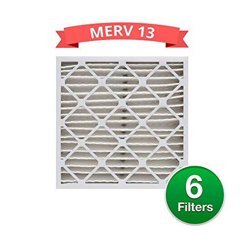 Replacement MERV 13 Pleated 20x25x4 Air Filters for Honeywell FC100A1037 (6 Pack)