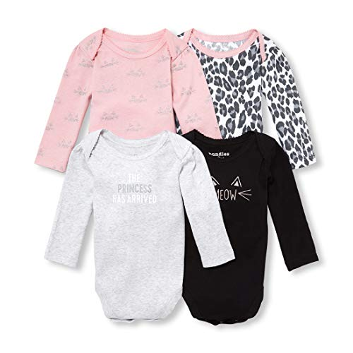 Layette Apparel (The Children's Place Baby Girls Kitten Printed Long Sleeve Layette Set, Serene Blush, 0-3MONTHS)