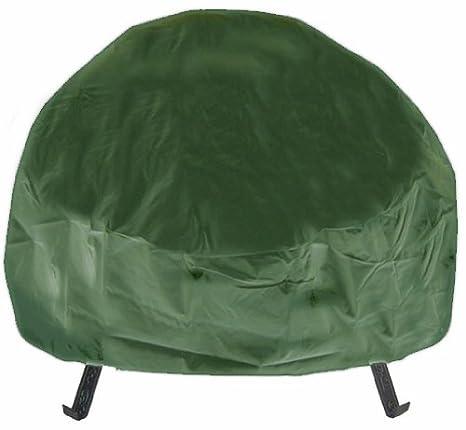 Stupendous Amazon Com Deeco Dm Rc Rf G Round Fire Pit Cover Green Evergreenethics Interior Chair Design Evergreenethicsorg