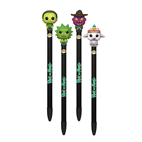 FUNKO POP SET 4 PLUMAS TINKLES TOXIC RICK SCARY TERRY TOXIC MORTY DE RICK AND MORTY PEN TOPPERS