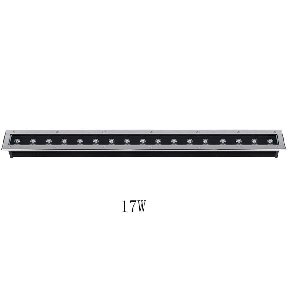 Pinjeer Length 100cm 17W Led Ultra Bright Square Buried Disk Light European Modern IP65 Waterproof Outdoor Strong Compression In-ground Light Landscape Lawn Garden Underground Path Light
