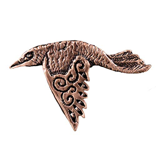 Creative Pewter Designs Celtic Raven Bird Copper Plated Lapel Pin, Brooch, Jewelry, ()