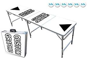 Custom 8-Foot Professional Beer Pong Table