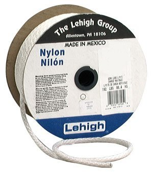 Lehigh Group SNR612 3/16'' x 1,200' Nylon Solid Braid Rope, White