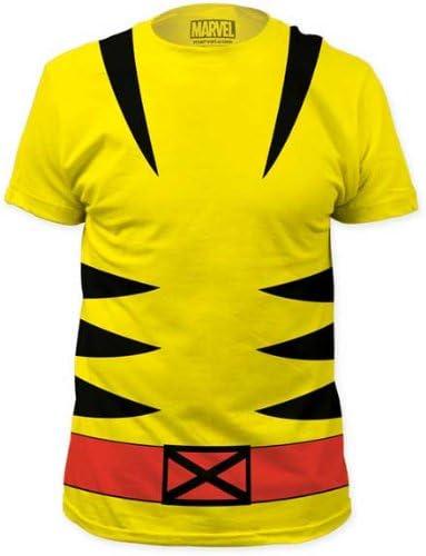 Tees de Marvel Lobezno traje de hombre camiseta de amarillo ...