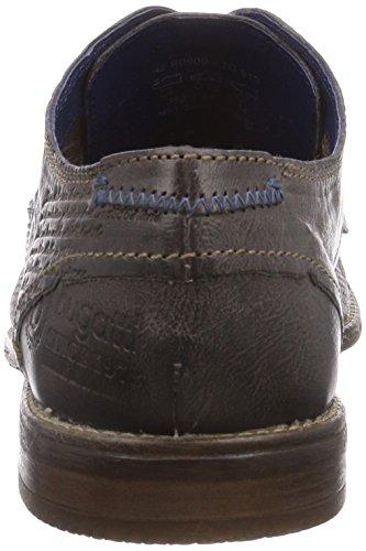 Bugatti R09091G - zapatos con cordones de cuero hombre marrón - Braun (dunkelbraun 610)
