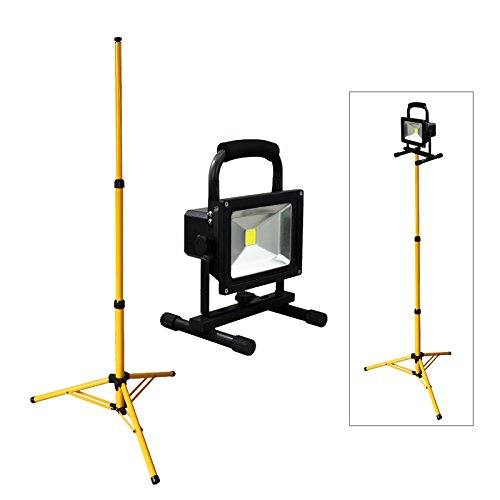 VINGO® 50W Blanc Projecteur LED Portable + + Teleskop trépied extérieur idéal pour jardin, cour, couloir, mur, etc IP65 fsders