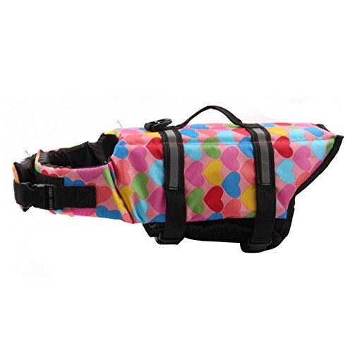 Dog Life Jackets Saver Float Coat Safety Reflective Vest Pet Life Preserver Pink XL
