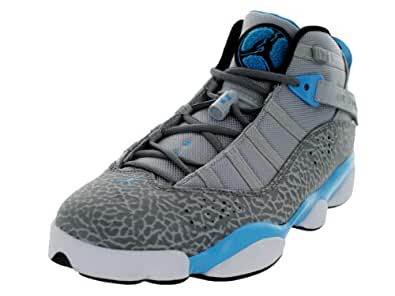 Jordan Mens 6 Rings Wolf Grey/Black-Cool Grey-Dark Powder 322992-006 15