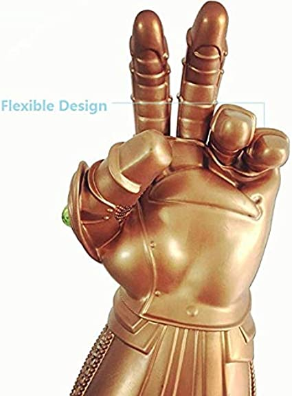 Color : Lights yvyuan Mani Pugno Guanti Thanos Infinity Gauntlet Ragazzi Luce LED Uomini Up Gioco in Latex Cosplay elettronico Props Accessori del Costume Lovely