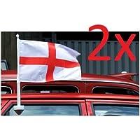 Juego de 2 banderas de la selección inglesa