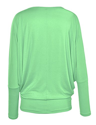 Lock and Love WT826 Womens Batwing Long Sleeve Top M Mint by Lock and Love (Image #1)
