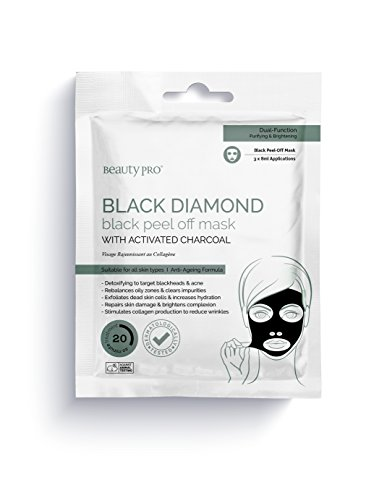Price comparison product image BeautyPro BLACK DIAMOND black peel-off mask with activated charcoal (6 Applications / 3 Sachets)