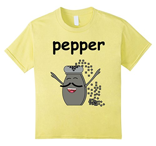 Kids PEPPER Shaker Matching Halloween Costume T-Shirt for Couples 12 Lemon - Mom N Son Halloween Costumes