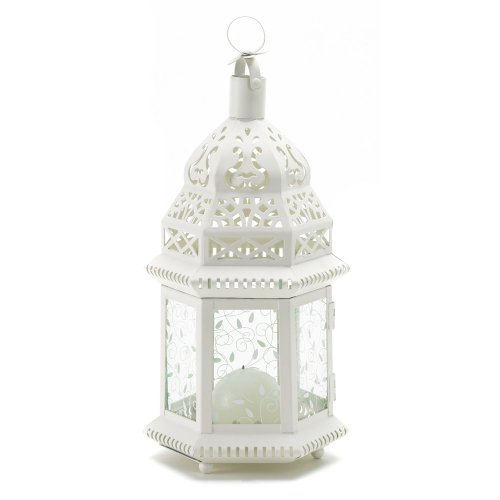 - Gwen's Closet Mid White Moroccan Lantern