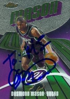 Desmond Mason autographed Basketball Card (Milwaukee Bucks) 2004 Topps Finest #11 - Autographed Basketball (Mason Autographed Basketball)