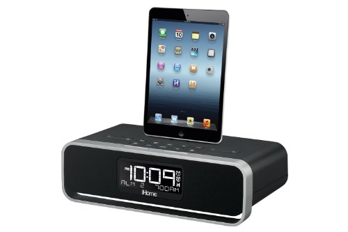 iHome iDL91 Dual Charging Stereo FM Clock Radio with Lightning Dock and USB Charge/Play for iPod/iPad and iPhone 5/5S and 6/6Plus