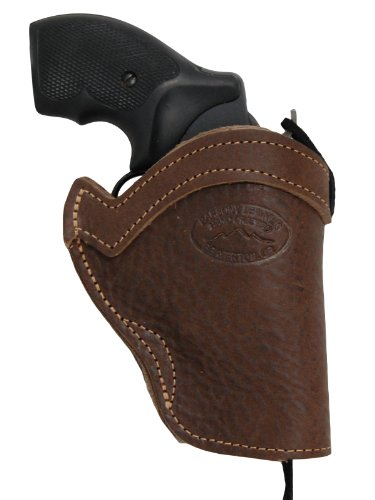 Barsony Brown Leather Western Style Holster for COLT King Cobra Left