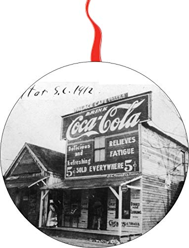 Coca Cola Advertising 1912 Christmas Tree Holiday Ornament Printed Double- 2 Sided Decoration Great Unisex