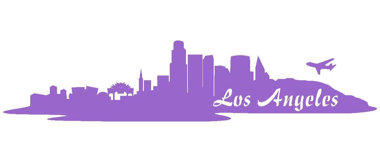 Samunshi® Aufkleber Los Angeles Angeles Angeles Skyline Autoaufkleber LA in 9 Größen und 25 Farben (180x39cm kupfermetalleffekt) B009EQ30A8 | Das hochwertigste Material  5a0ce4