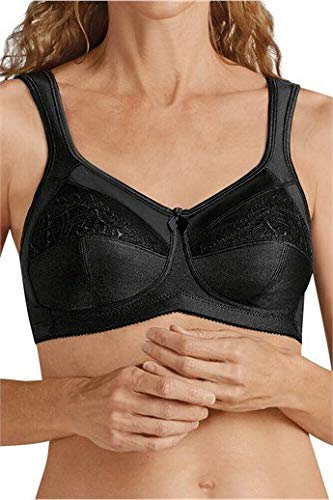 - Amoena Women's Plus-Size Isadora Full Figure Wirefree Pocketed Bra, Black, 40C