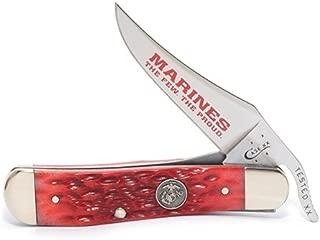 product image for CASE XX WR Pocket Knife 13179 U.S. Marine Corps Dark Red Bone Russlock