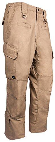 LA Police Gear Men's Elastic-WB Lower Leg Pockets Operator Pant Khaki-30 x 34