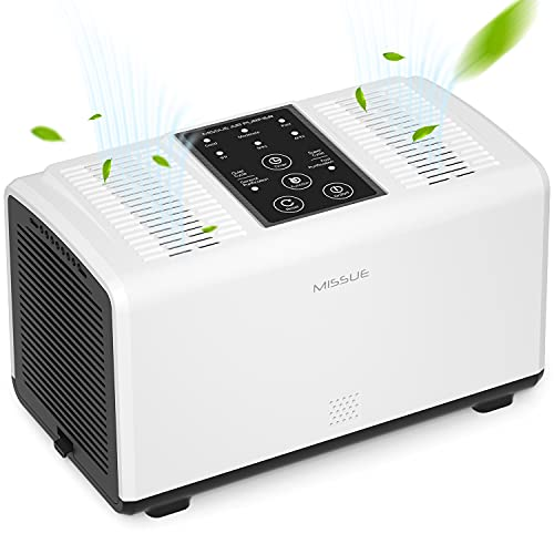 MISUSE Small Air Purifier for Home Bedroom, HEPA Room Air Filter with Aroma Box, Ultra-Quiet Air Fresher with Dual…