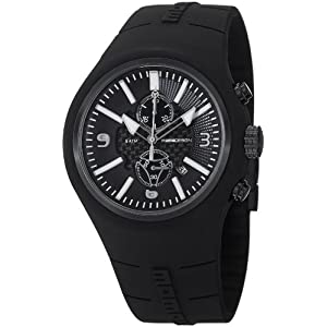 Momo Design Mirage Black and White Dial Chronograph Black Silicone Mens Watch MD1009BK-61