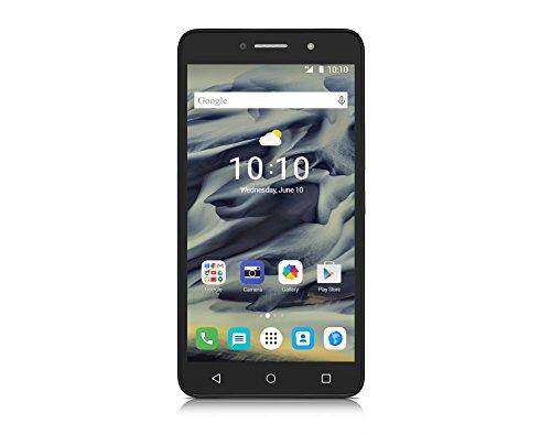 Alcatel Onetouch Pixi 4 Smartphone (15,2 cm (6 Zoll), 960 x 540 Pixel, 8 Megapixel, 64GB, Android) vulkan schwarz