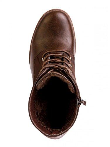 CASPAR Fashion - Botas para mujer Marrón - marrón oscuro