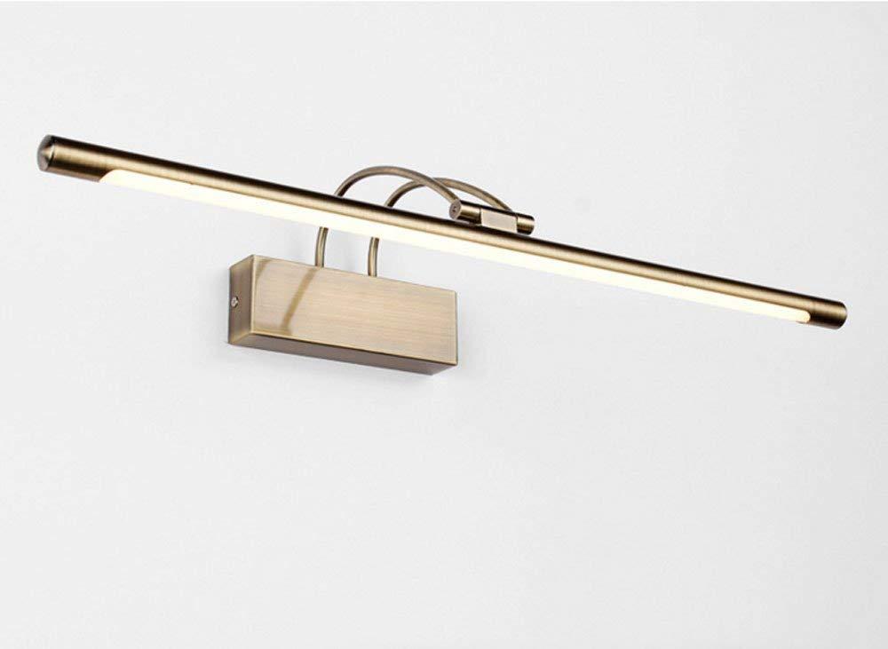 Mirror Lamps Home Spiegellampe Einfacher Spiegel LED Spiegel Kabinett Licht Bad Wc Dresser Lens Scheinwerfer Wasserdicht (Farbe   Metallic)