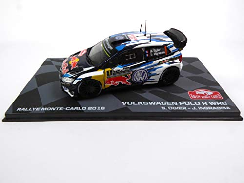 (- Die Cast Collectible car Polo R WRC 2016 Winner Monte-Carlo Ogier 1:43 Ixo (BR1))